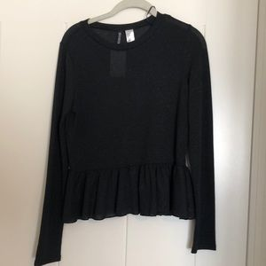 Black shimmery top